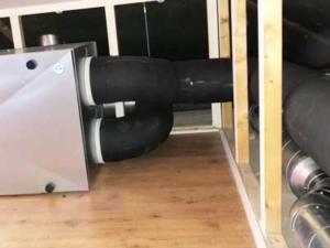 Inregelen Systemair WTW unit voor de Haier fabriek, Nesselande