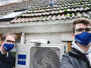 Servicereparatie voor de Haier fabriek aan een luchtwarmtepomp, Sellingen
