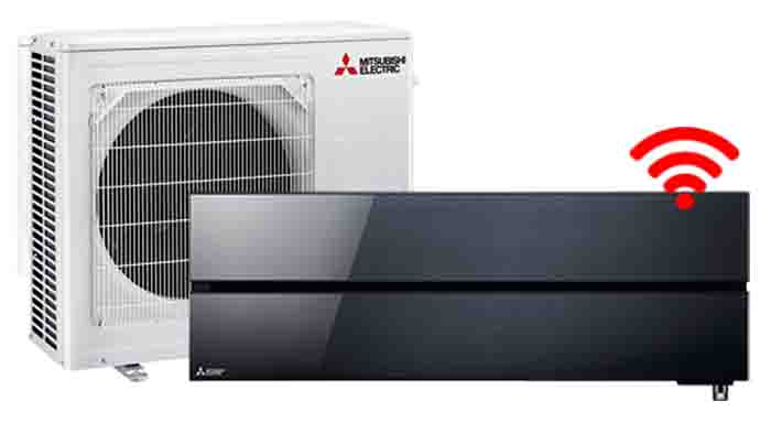 Mitsubishi Electric onyx black - Airconditioning & warmtepomp Service Nederland