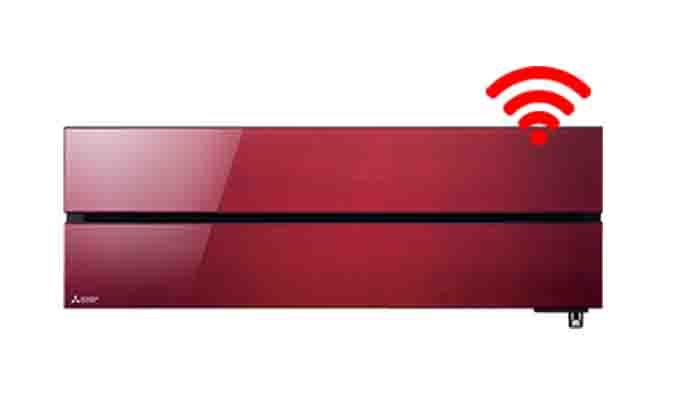 Mitsubishi Electric Binnendeel rood - Airconditioning & warmtepomp Service Nederland