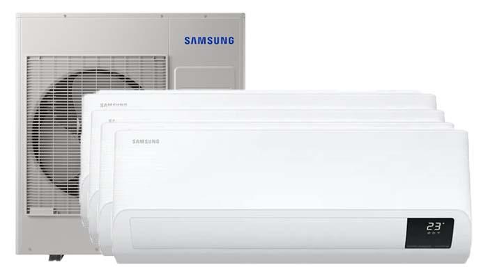 Samsung Wind-Free comfort Multi 4 binnendelen - Airconditioning & warmtepomp Service Nederland