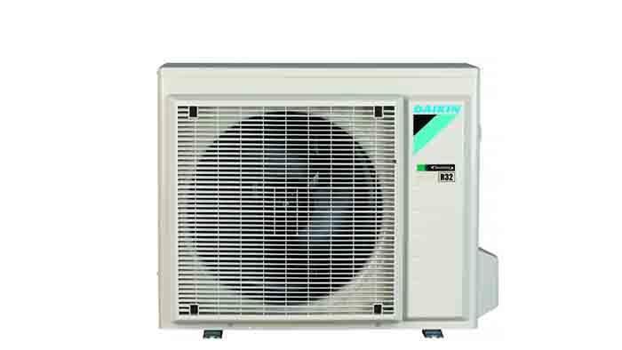 Daikin Stylish black-Wood buitendeel - Airconditioning & warmtepomp Service Nederland